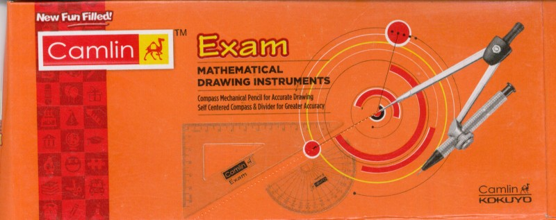 Camlin Exam Metal Geometry Boxes(Orange)