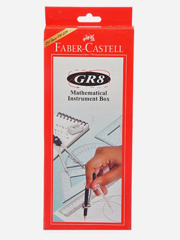 Faber-Castell GR8 Geometry Box(Red)