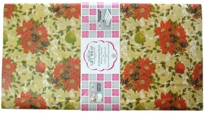 Hargan Gift Wrap Red Flower on Light Pink Base 100% Paper Gift Wrapper