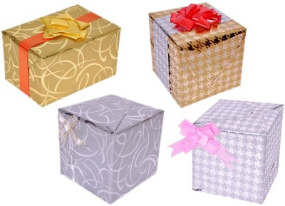 Star Gold and Silver Metallic Criss-cross & Arrows Combo Italian Sheets Gift Wrapper