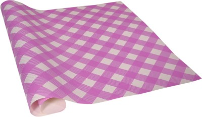 Star White ,n, Pink Checker Italian Paper Gift Wrapper