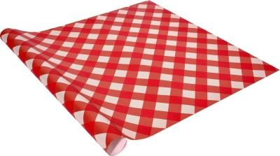 Star Red & White Checker Italian Paper Gift Wrapper
