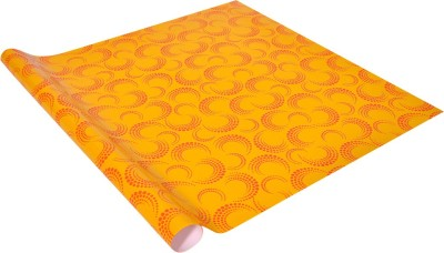 Star Yellow ,N, Orange Circular Dots Italian Paper Gift Wrapper