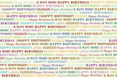 Wilson WG-120 Happy Birthday Paper Gift Wrapper