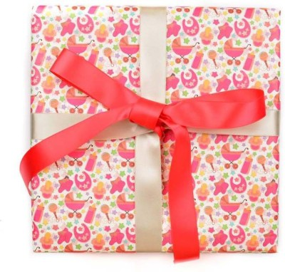 The Papier Project WP02 Its a girl Baby Girl Paper Gift Wrapper