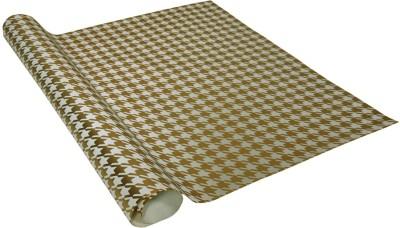 Star White ,n, Gold Running Arrows Italian Paper Gift Wrapper