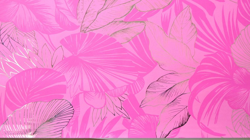 Star Pennsylvania Wpxxxx31 Metallic Leaf 10 Sheets, Made In Italy 100% Paper Gift Wrapper(Pink)