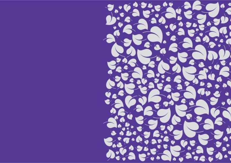 Sixteen Shades Birthday Leaves Paper Gift Wrapper(Purple)