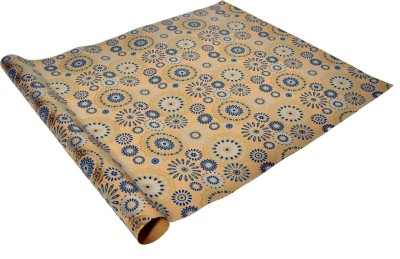 Star Blue, Golden & Silver Fireworks Italian Paper Gift Wrapper