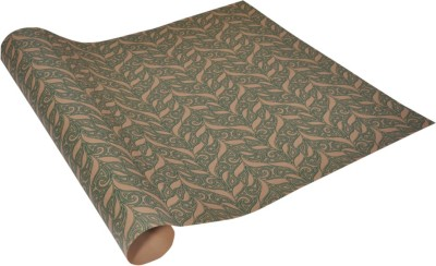 Star Green Jacquard Pattern Italian Recycled Paper Gift Wrapper