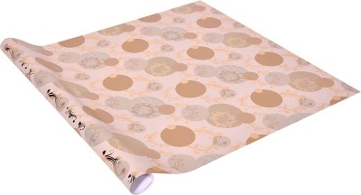 Star Shades of Pastel Green ,n, Cream with Metallic Golden Leaves Italian Paper Gift Wrapper