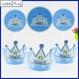 Funcart Prince Crown theme cupcake wrapp...