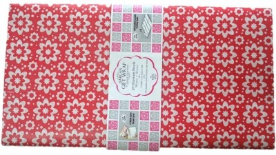 Hargan Gift Wrap White Flower on Red Base 100% Paper Gift Wrapper