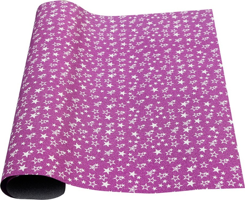 Paper Exim FSP Five-Pointed Star Pattern Pp/Pvc Gift Wrapper(Pink)
