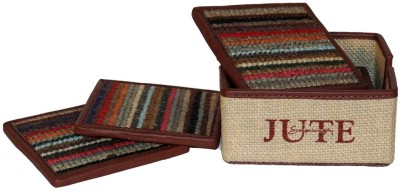 Clubb JUTE COASTER WITH BOX Natural Jute Gift Wrapper