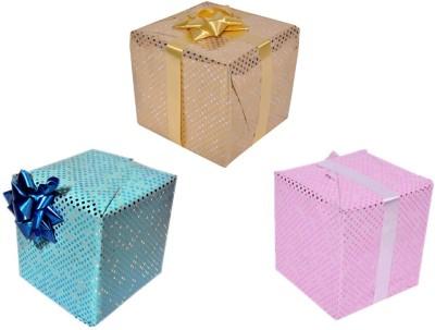 Star Polka Dots Combo Metallic Italian Sheets Gift Wrapper