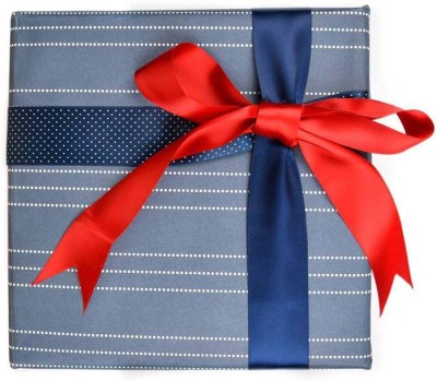 The Papier Project WP08 Nautical Exporer Dotted Lines Paper Gift Wrapper