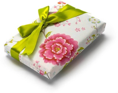 The Papier Project WP05 Chirping Happiness Flowers Paper Gift Wrapper