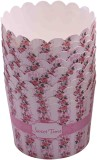 Funcart Pink floral sweet time cupcake w...