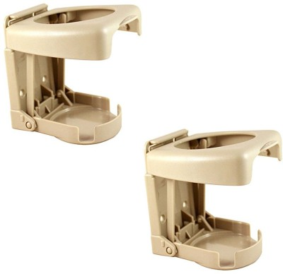 Speedwav Foldable Beige Plastic Glass Holder