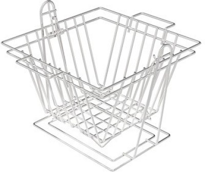 SAFFRON SWINGING BASKET - SQUARE Stainless Steel Utility Rack
