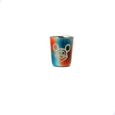 Pratha Kids Special Steel Mickymouse Glass With Dingdong Bell