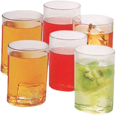 Botvel Transparent Sunny Glass Glass Set(200 ml, Clear, Pack of 6)