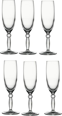 Pasabahce Step Champagne Flute Tumbler Glass Set(175 ml, Clear, Pack of 6)