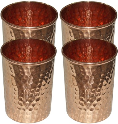 QUBIC INC Glass Set(299 ml, Brown, Pack of 4)