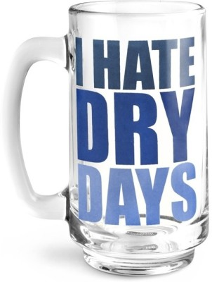 Happily Unmarried I Hate Dry Days Beer Glass Mug