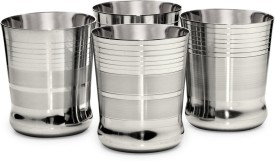 FORUS Glass Set(350 ml, Silver, Pack of 4)