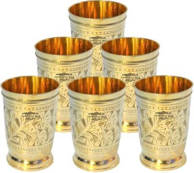 Indian Craft Villa Glass Set(1500 ml, Gold, Pack of 6) at flipkart