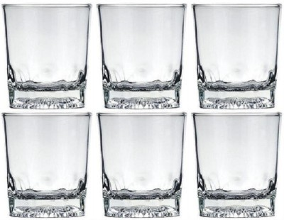 Lucky Thailand Glass Set(320 ml, White, Pack of 6)