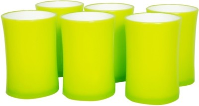 Botvel Multicolor Duro Glasses Glass Set(200 ml, Multicolor, Pack of 6)