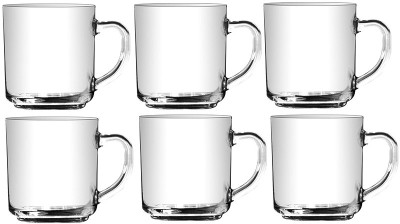 Union Glass Set(300 ml, White, Pack of 6)
