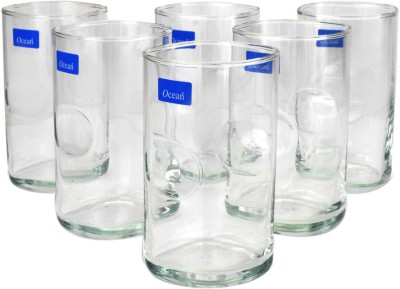 Ocean Unity Hi-ball Tumbler Glass Set(290 ml, Clear, Pack of 6)