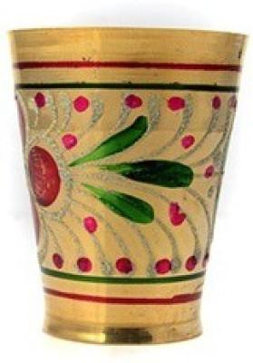Pratha pratha floral brass glass