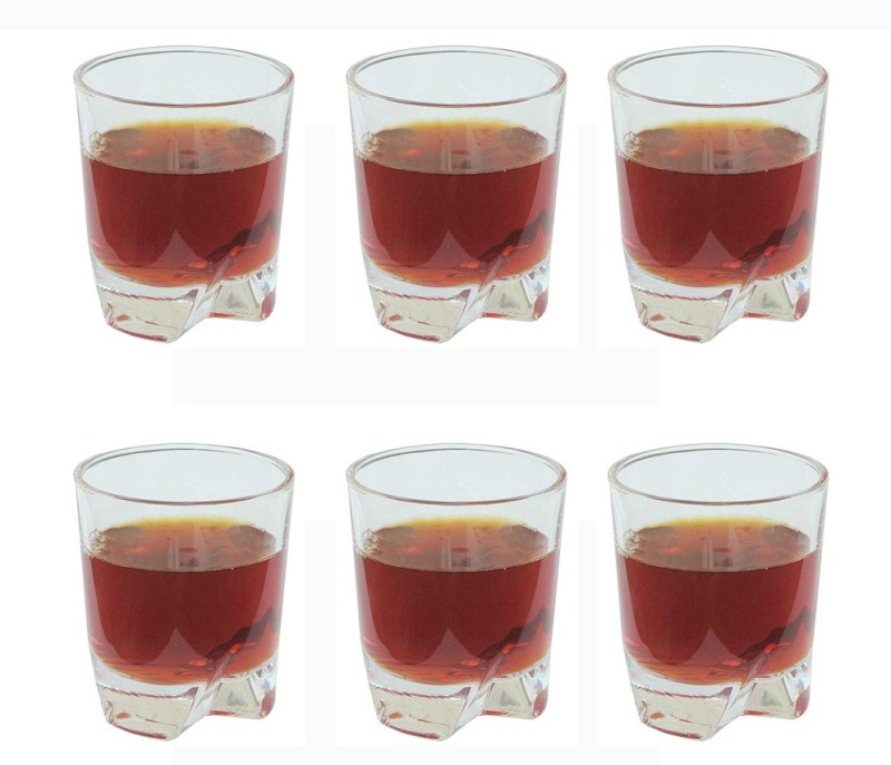 Aditya Glass Set(290 ml, Clear, Pack of 6)