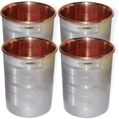 Dakshcraft Drinkware Accessories Handmade Copper Tumblers, Set of 4 DS123