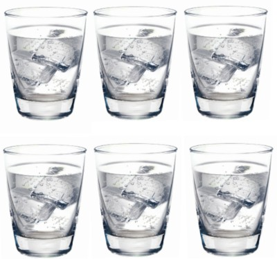 Ocean Tiara Glass Set(270 ml, Clear, Pack of 6)
