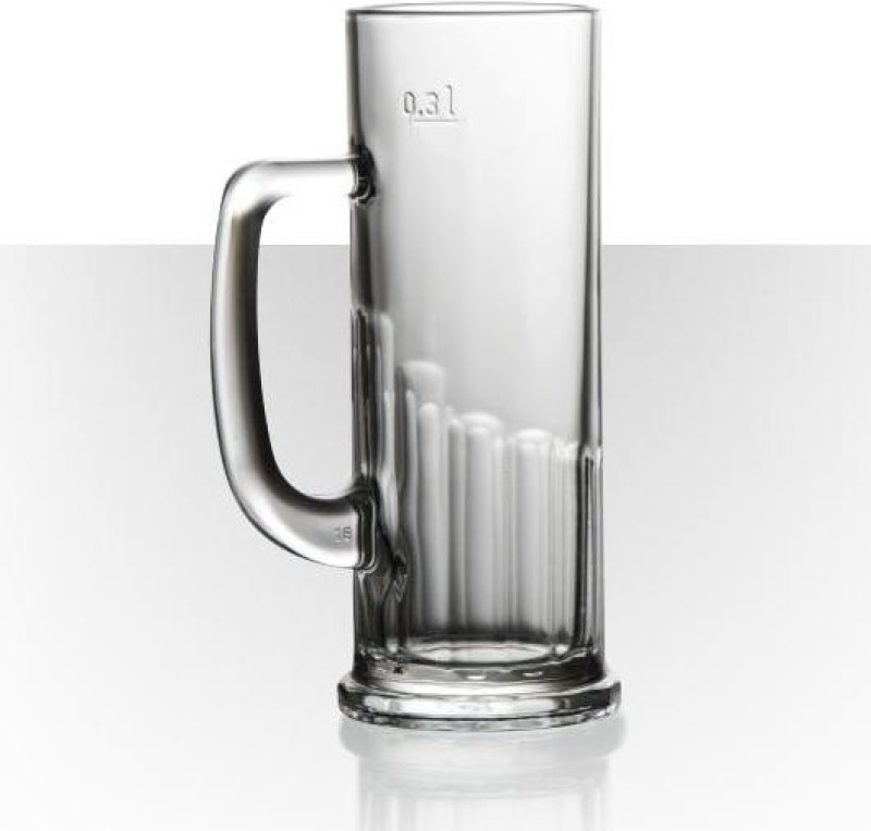 Velik Beer Mug Europa Glass Set(392 ml, Clear, Pack of 6)
