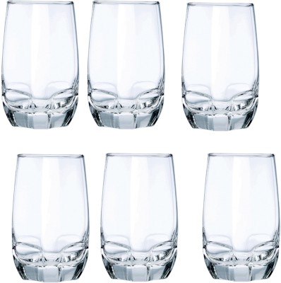Ocean Charisma Hi-ball Tumbler Glass Set(415 ml, Clear, Pack of 6)