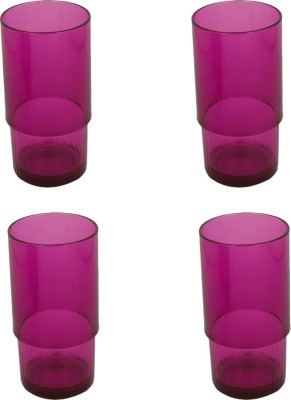 Tupperware Glass Set(1680 ml, Purple, Pack of 4)