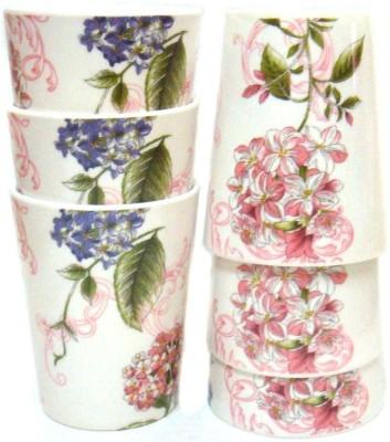 Wood & kemp Melamine Flower Glass set 6pcs