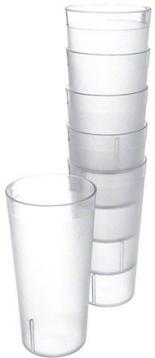 Enrich Plastic Glass Set(330 ml, Clear, Pack of 6)