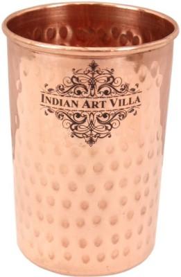 IndianArtVilla Glass(400 ml, Brown, Pack of 1)