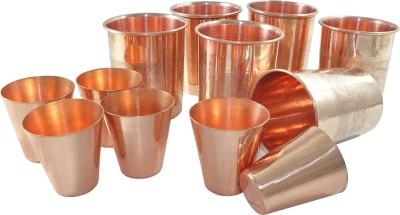 Dakshcraft Glass Set(350 ml, Gold, Pack of 6) at flipkart