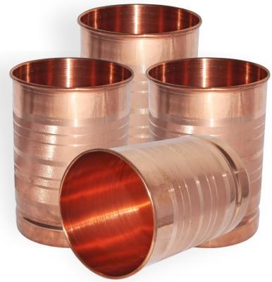 QUBIC INC Glass Set(350 ml, Brown, Pack of 4)