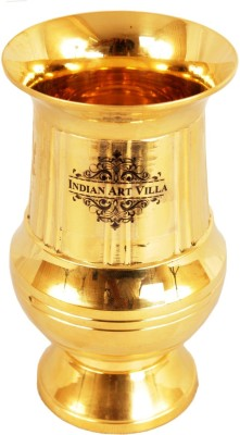 Indian Art Villa Glass(200 ml, Gold, Pack of 1)