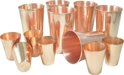 Dakshcraft Glass Set(400 ml, Gold, Pack of 6) at flipkart